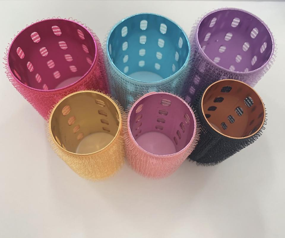 Colored Alu. core hair roller