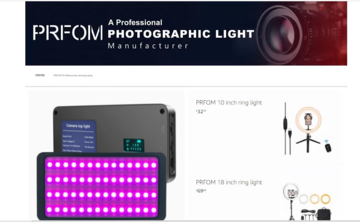 PRFOM Photography Lights Flagship Store on Amazon