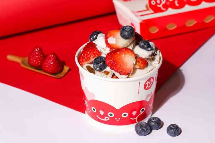 喜U莓莓炒酸奶
