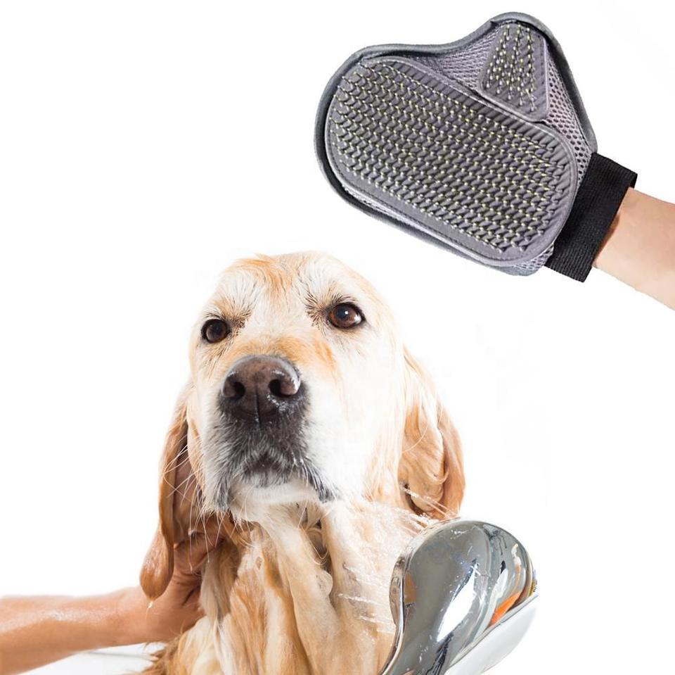 Pet grooming gloves bath gloves shower massage brush