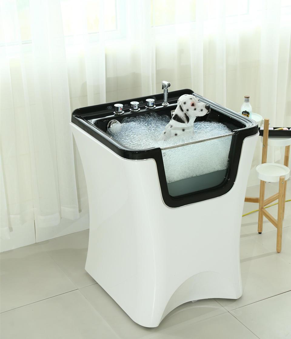 Dog grooming bath tub