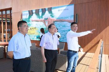 2018年7月5日中国工程院院士于金明一行参观考察博鳌一龄生命养护中心