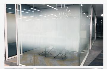 圆点渐变膜单向双向办公室隔断磨砂玻璃贴膜半透光不透明贴纸
