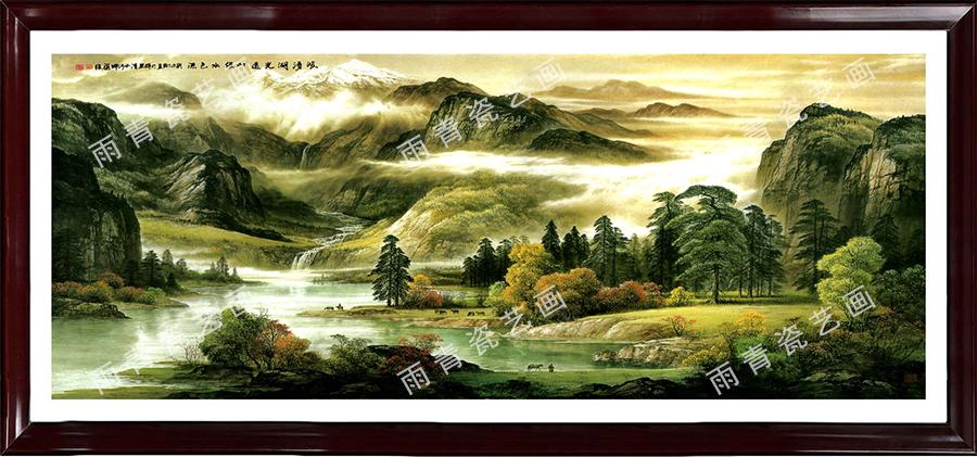 瓷板画名画复制  (3)