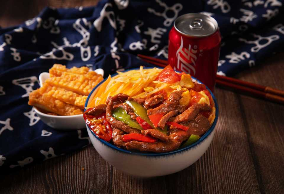辣椒炒肉可乐套餐
