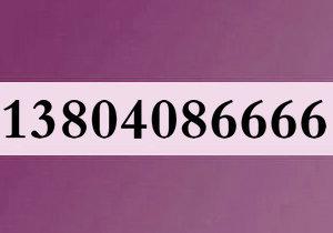 13804086666大连移动4连号