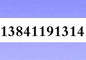 13841191314大连移动1349风水号