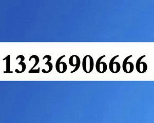 13236906666大连联通4连AAAA