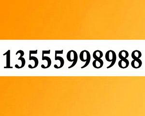 13555998988大连移动极品88靓号