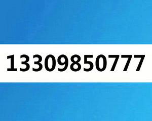 13309850777大连电信3连AAA