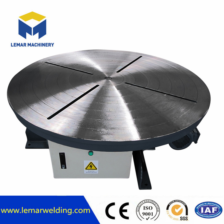 Rotary welding turntable positioner