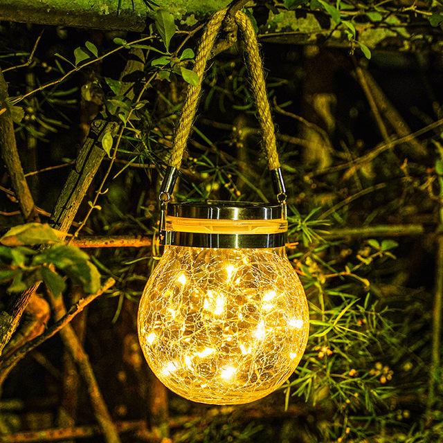 HD-31 solar outdoor led light glass wish lamp