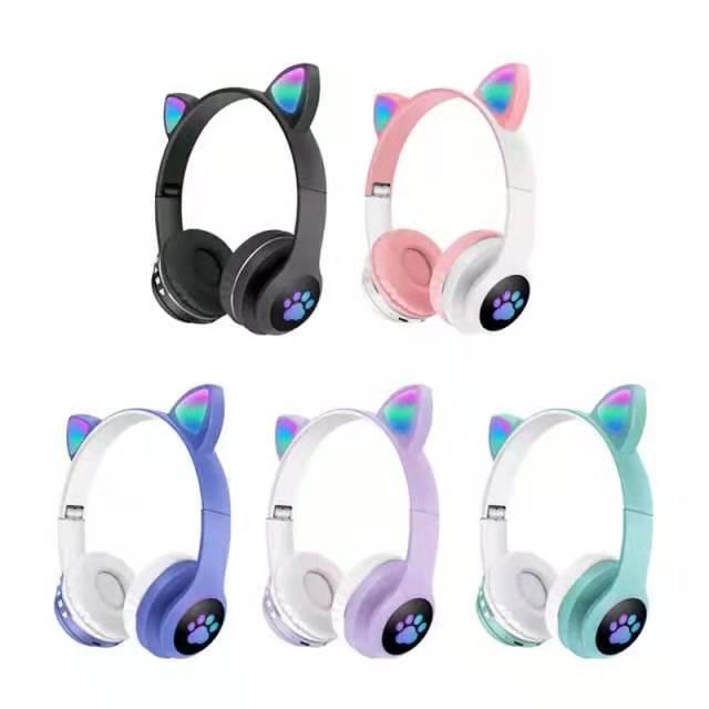 Cat ear bluetooth Headset
