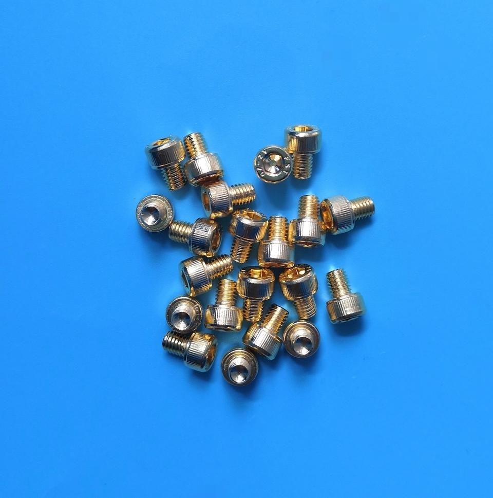 退磁内六角镀金螺丝 M5x6