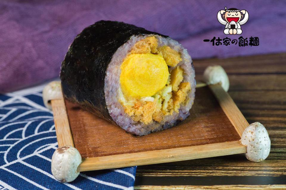 九州流沙双蛋黄饭团