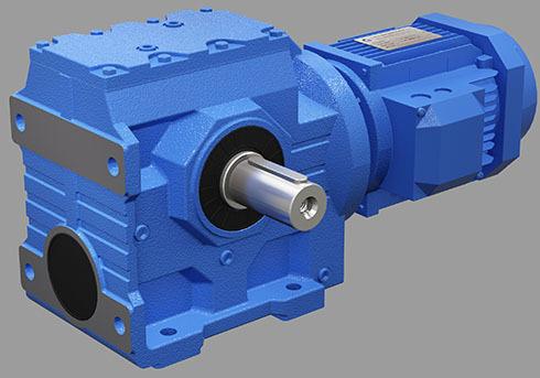减速机技术参数:<br/><br/>速比范围:基本型9.96~244.74,S系列/R系列组合型可到8608<br/><br/>扭矩范围:43~4200 Nm<br/><br/>功率范围:0.18~22 kW<br/><br/>结构形式:<br/><br/>S-轴伸式联接 SF-轴伸式、法兰安装<br/><br/>S...S-表示轴输入 SA-轴装式联接<br/><br/>SAF-轴装式、法兰安装<br/><br/>1、斜齿轮和蜗轮组合,结构紧凑,减速比大。<br/><br/>2、安装方式:底脚安装、空心轴安装、法兰安装、扭力臂安装、小法兰安装。<br/><br/>3、输入方式:电机直联、电机皮带联接或输入轴、联接法兰输入。<br/><br/>4、平均效率:减速比7.5-69.39是77% ;70.43-288是62% ;S/R组合式是57%。<br/><br/>5、和R系列组合能得到更大的速比。<br/><br/>四大系列减速机产品特点:<br/><br/>1、机体表面凹凸具有散热作用,吸振强,低温升,低噪音。<br/><br/>2、密封性能好,对工作环境适应好。<br/><br/>3、S系列斜齿轮蜗轮减速机传动精度高,适应在有频繁启动的场合工作。<br/><br/>4、S斜齿轮减速机关键部件采用了高材料,并经过特种热处理,具有加工精度高,传动平稳、体积小承载能力大、寿命长等特点。<br/><br/>5、斜齿轮减速机可配置各种类电机,形成了机电一体化。<br/><br/>S系列斜齿轮蜗轮减速机型号:<br/><br/>S37、S47、S57、S67、S77、S87、S97 || SF37、SF47、SF57、SF67、SF77、SF87、SF97<br/><br/>SA37、SA47、SA57、SA67、SA77、SA87、SA97 || SAF37、SAF47、SAF57、SAF67、SAF77、SAF87、SAF97<br/><br/>SAT37、SAT47、SAT57、SAT67、SAT77、SAT87、SAT97 || SAZ37、SAZ47、SAZ57、SAZ67、SAZ77、SAZ87、SAZ97<br/><br/>SS37、SS47、SS57、SS67、SS77、SS87、SS97|| S37R17、S47R17、S57R17、S67R37、S77R37、S87R57、S97R57<br/><br/>SAS37、SAS47、SAS57、SAS67、SAS77、SAS87、SAS97|| SA37R17、SA47R17、SA57R17、SA67R37、SA77R37、SA87R57、SA97R57<br/><br/>SFS37、SFS47、SFS57、SFS67、SFS77、SFS87、SFS97|| SF37R17、SF47R17、SF57R17、SF67R37、SF77R37、SF87R57、SF97R57<br/><br/>SAFS37、SAFS47、SAFS57、SAFS67、SAFS77、SAFS87、SAFS97 || SAF37R17、SAF47R17、SAF57R17、SAF67R37、SAF77R37、SAF87R57、SAF97R57<br/><br/>SAZS37、SAZS47、SAZS57、SAZS67、SAZS77、SAZS87、SAZS97||  SAZ37R17、SAZ47R17、SAZ57R17、SAZ67R37、SAZ77R37、SAZ87R57、SAZ97R57