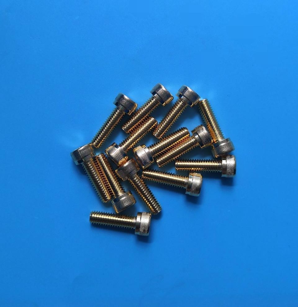 内六角镀金螺丝M6*20