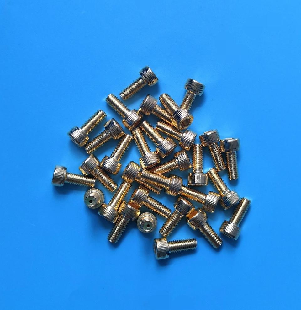 DM退磁镀金螺丝 M5*12