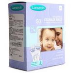 原装进口Lansinoh轻薄透气防溢乳垫母乳保鲜储存袋 储奶袋 50片