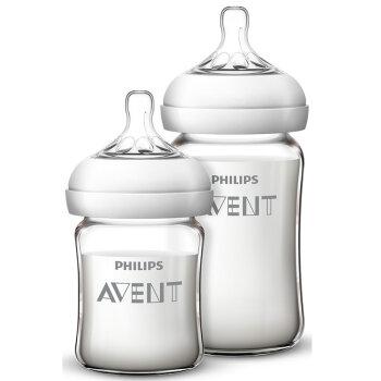 飞利浦新安怡(AVENT)宽口径自然顺畅玻璃奶瓶新生儿套装 SCF679/57